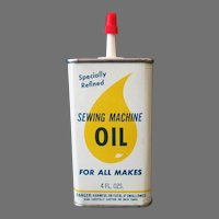 Vintage Oil Tin - Sewing Machine Oil Tin with a Yellow Drop Graphics