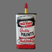 Vintage Oil Tin - Master Mechanic Tru-Test Paints Advertising Household Oil