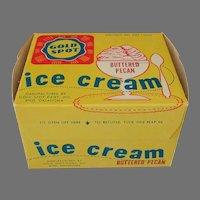 Vintage Gold Spot Ice Cream Carton – Gold Spot Dairy of Enid Oklahoma