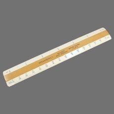 """Vintage 6"""" Gramercy 10/20/40/50, 4 Bevel Flat Engineering/Drafting Scale"""