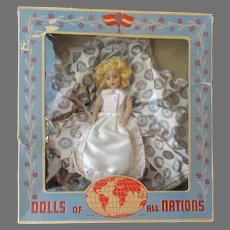 Vintage Duchess Doll - Swedish Girl - Dolls of All Nations in Original Box