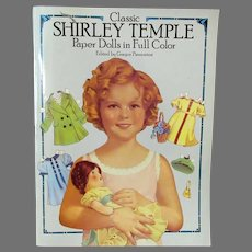 Vintage Shirley Temple Paper Doll Book with 3 Size Dolls and Wardrobes - Uncut