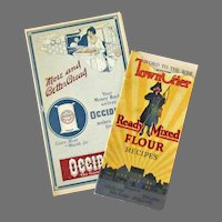 Two Vintage Advertising Booklets – Town Crier Recipe Booklet & Occident Flour Advertising Pamphlet