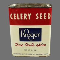 Vintage Kroger Spice Tin with Grapefruit French Dressing Recipe