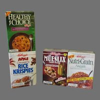Vintage Sample Cereal Boxes – Two Different Kellogg's Double Packs Factory Sealed Products