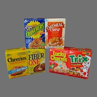 Vintage Sample Cereal Boxes – Three Different Double Packs - Old Factory Sealed Products