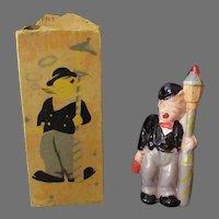 Vintage Miniature Celluloid Smoking Novelty Toy - Smokie Joe