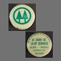 Vintage Celluloid Tape Measure - Wisconsin St. Croix Co-Op Advertising