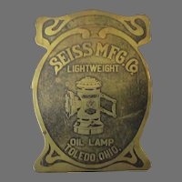 Vintage Seiss Manufacturing Paper Clip with Bicycle Oil Lamp – Exceptional Advertising