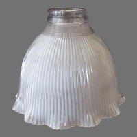 "Vintage, Frosted I-7 Holophane Light Fixture Shade for Standard 2 ¼"" Shade Holder"