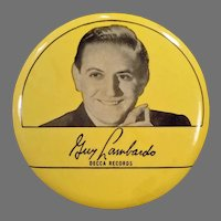 1940's Vintage Phonograph Record Duster – Guy Lombardo, Decca Records Advertising
