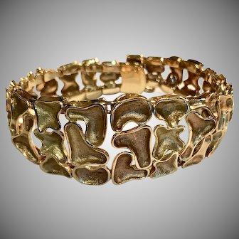 Stunning 14K Heavy Modernist Bracelet
