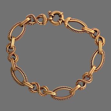 Pretty Vintage Estate 14K Rope Link Bracelet