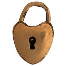 Cute Victorian Gold Filled Heart Lock