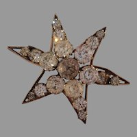 Victorian Paste Star Pin