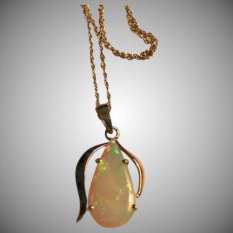 Lovely Estate Solid Opal 14k Pendant