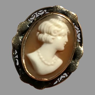Vintage Sterling Cameo Ring