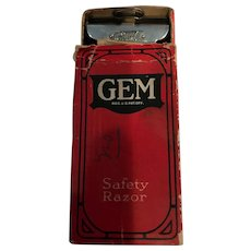 Vintage GEM Razor with Original Box and Papers