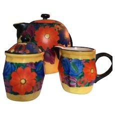 Beautiful Art Deco Czech Mrazek Coffee Set