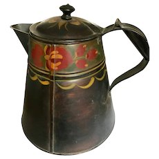 Fantastic Vintage Toleware Coffee Pot