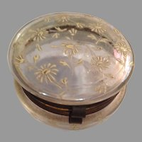 Victorian Handpainted Glass and Brass Patchbox