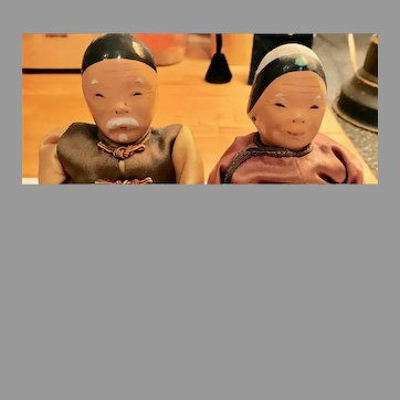 Wonderful Pair of Chinese Grandparent Dolls