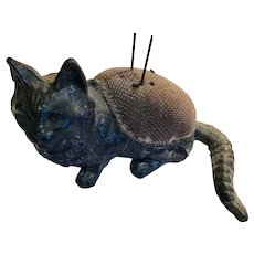 Wonderful Victorian Cat Pin Cushion