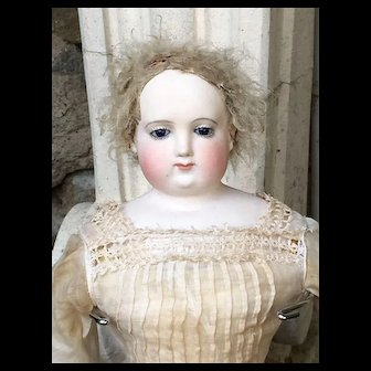 Rare. Dénis Duval french fashion bisque doll 17 inches tall