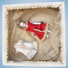 Rare first FG all bisque mignonette french doll