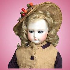 Rare french fashion bisque doll serre Schneider 17 inches tall