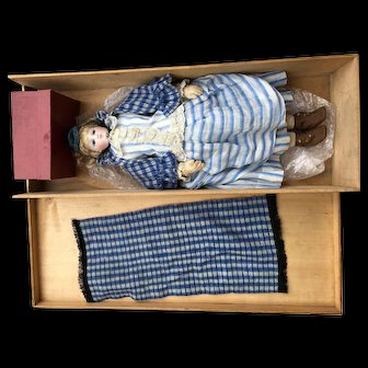 Rare and exceptional French fashion bisque doll made by Rose Poncet