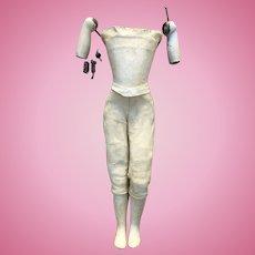 Rare Cruchet body french Fashion bisque Doll Size 4