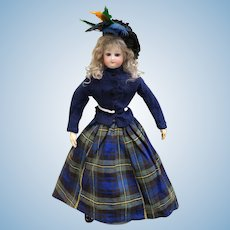 Wonderful Bru French fashion bisque doll incised E, 17 inches tall