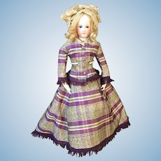 Rare dress for French fashion bisque doll size 5