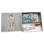 Very rare doll paper in box with outfits 1850-60 years