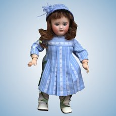 Nice French bisque bleuette doll 10,8 inches tall