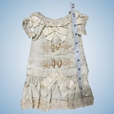 Rare antique dress for jumeau or steiner Doll about size 6