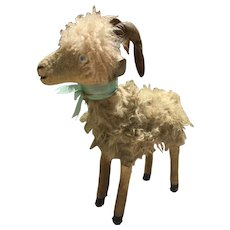 Antique goat of 16 inches tall for dolls