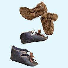 Jumeau shoes size 12 with socks