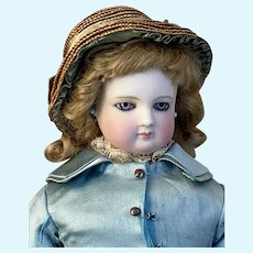 Wonderful French fashion bisque doll wood body 18 inches tall