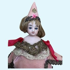 Nice antique French marotte FG bisque French doll