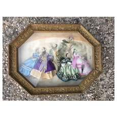 Exceptionnel painting of fashion bisque doll