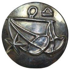 Vintage Sterling Silver Zodiac Pin