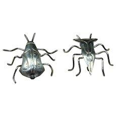 Vintage Bug Duo Pins