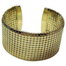 Vintage Gold tone  Cuff Bracelet
