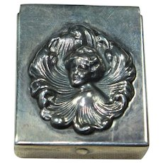Vintage Sterling Lady Pill Box