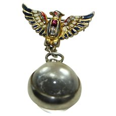Vintage Sterling Jelly-Belly 'CORO' Bird Pin