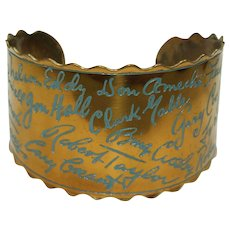 Vintage Famous Movie Star Name Bracelet