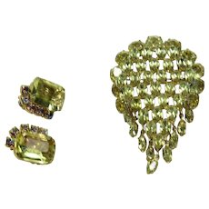 Vintage KRAMER of New York Pin and Earring Set