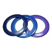 Vintage Plastic Trio Bangle Bracelets